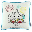 Disney Parks Mickey Minnie Mouse My Happy Place Is With You Medium Pillow New