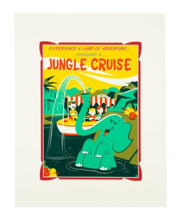 Disney WonderGround Jungle Cruise Land of Adventure Deluxe Print By Dave Perillo