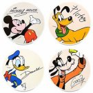 Disney Parks Mickey Goofy Donald & Pluto Fab 4 Coaster Set New