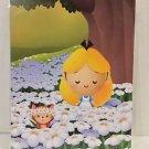Disney WonderGround Spring Time Flowers Alice in Wonderland Postcard Jerrod