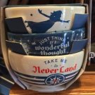 DISNEY PARKS JUST THINK OF A WONDERFUL THOUGHT TAKE ME TO NEVER LAND PETER BOWLS