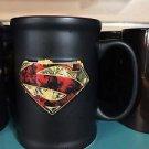 Six Flags Magic Mountain Dc Comics Superman Shield Ceramic Mug Cup New