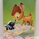 Disney WonderGround Spring Time Flowers Bambi Postcard by Jerrod Maruyama