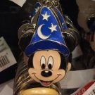 Disney Parks Sorcerer Mickey Mouse Face Keyring Metal Keychain New