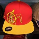 Six Flags Magic Mountain The Flash Red/Yellow Adjustable Snapback Hat Cap New