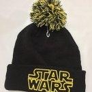 Disney Parks Star Wars Black and Yellow New Era Beanie Headwear Brand New