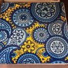 Disney Parks Indigo Collection Ceramic Coaster Paisley Pattern New