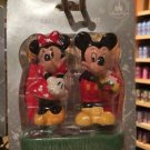DISNEY PARKS MICKEY & MINNIE MOUSE SALT PEPPER SHAKERS NEW IN BOX