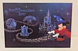 Disney Parks Walt Disney World 2017 Lenticular Postcard New