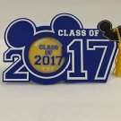 Disney Parks Class of 2017 Graduation Magnet Photo Frame Mickey Ear Hat w/Tassel