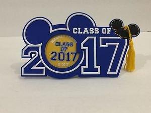 Disney Parks Class of 2017 Graduation Magnet Photo Frame Mickey Ear Hat w/Tassel