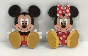 DISNEY PARKS EXCLUSIVE MICKEY & MINNIE MOUSE ACRYLIC MAGNET SET NEW