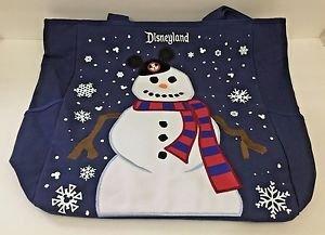 Disneyland Resort Snow Man Christmas Canvas Tote Bag New with Tags