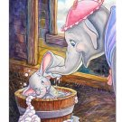 Disney Parks Dumbo in Dumbo Bath Deluxe Matted Print by Randy Noble NEW