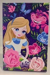 Disney WonderGround Beautifully Alice LE Canvas Print #1 Signed by Jeff Granito