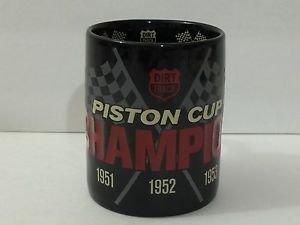 DISNEY PARKS DCA CARS LAND DIRT TRACK PISTON CUP CHAMPION CERAMIC MUG NEW