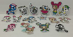 TOKIDOKI 100% Authentic Rainbow Sandy Sticker Set New (16stickers)