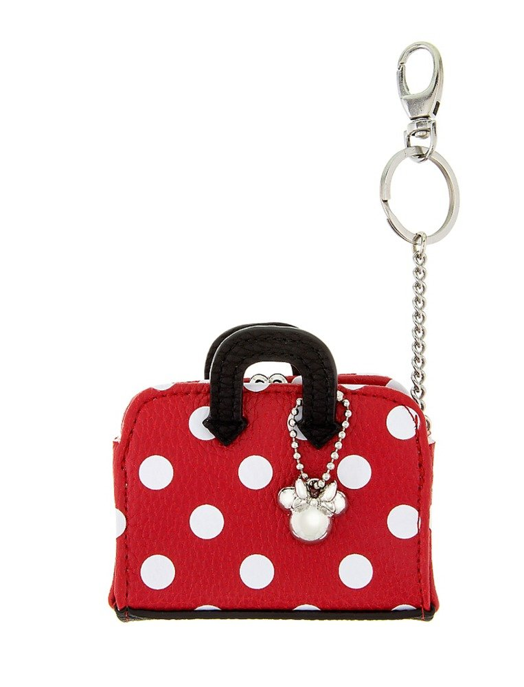 Disney Parks Exclusive Minnie Mouse Dot Coin Purse Keychain New