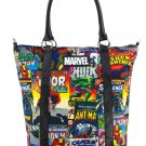 DISNEY PARKS EXCLUSIVE MARVEL CHARACTERS TOTE BAG BY LOUNGEFLY NEW WITH TAGS