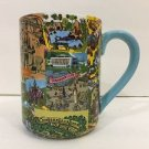 Disney Parks Walt Disney World Magic Kingdom Retro Map Ceramic Mug New