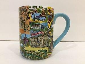 Disney Parks Walt Disney World Magic Kingdom Retro Map Ceramic Mug New