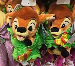 "Disney Parks Bambi with Blanket 10"" Plush Doll Disney Babies New"