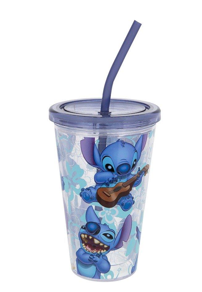 Disney Parks Stitch Acrylic Tumbler with Straw New