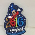 Disneyland Resort 2016 Sorcerer Mickey Rubber Magnet Music Magic Memories New