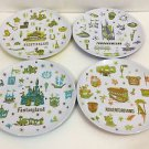 "Disney Park Tomorrowland Fantasyland Adventureland Frontierland 7"" Plate Set New"