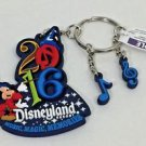 Disneyland Resort 2016 Sorcerer Mickey Rubber Keychain Music Magic Memories New