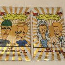 5 Pack Of MTV`s BEAVIS AND BUTT-HEAD Trading Cards by Fleer Ultra New and Sealed