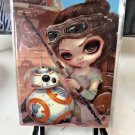Disney WonderGround Star Wars Rey & BB-8 Postcard by Jasmine Becket-Griffith New