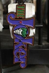 Six Flags Magic Mountain DC Comics The Joker Logo Metal Keychain New