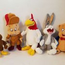 "Six Flags Magic Mountain Looney Tunes 10"" Plush Set Bugs Porky Elmer Henery Hawk"