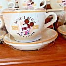 Disney Parks Hipster Mickey's Really Swell Ceramic Espresso Cup & Saucer Set New