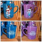 DISNEY PARKS HIPSTER MICKEY & MINNIE MOUSE CERAMIC MUG CUP SET NEW