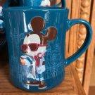 DISNEY PARKS HIPSTER MICKEY CERAMIC BLUE MUG NEW