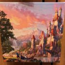 Disney Parks Beauty and The Beast Canvas Wrap Print Thomas Kinkade Studios New