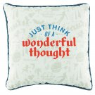 Disney Parks Peter Pan Just Think A Wonderful Thought Neverland Map Pillow New