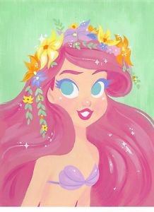 Disney WonderGround Gallery Little Mermaid Ariel Deluxe Print Gabby Zapata New