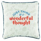 Disney Parks Peter Pan Just Think A Wonderful Thought Pillow New (Set of 2)