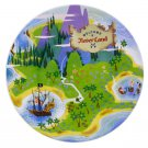 Disney Parks Peter Pan Welcome to Neverland Dessert Plate New (set of 4 plates)