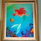 Disney Parks Ariel Flounder Deeper Than The Ocean LE Giclee by Daniel Killen New