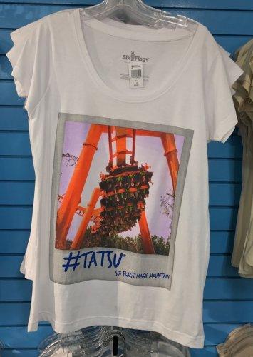 Six Flags Magic Mountain #Tatsu Coaster Adult T-Shirt SIZE S,M,L XL,XXL New