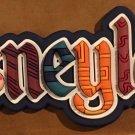 Disneyland Resort Souvenir Fridge Magnet Iconic Disneyland Colored Letters New!