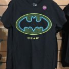 Six Flags Magic Mountain Batman Logo Black Shirt Glow In The Dark New with Tag