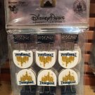 Disney Parks Disneyland Castle Metal Binder Clips Set of 6 New & Sealed