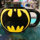 Six Flags Magic Mountain Dc Comics Raised Batman Logo 3-D Ceramic Mug Cup New