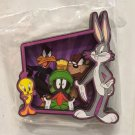 Six Flags Magic Mountain Looney Tunes Bugs Bunny Marvin Tweety Wood Magnet New