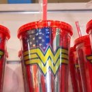 Six Flags Magic Mountain Dc Comics Wonder Woman Logo Red Travel Tumbler New